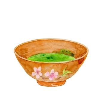 Zielona herbata matcha w misce