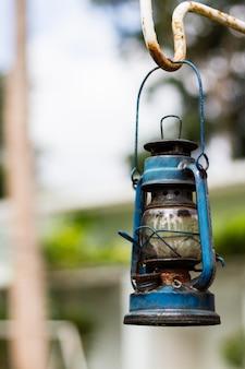 Zielona lampa vintage