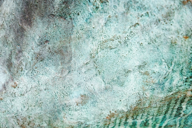 Zielona mięta brudne grunge metalowe tło