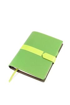 Zielona okładka notesu