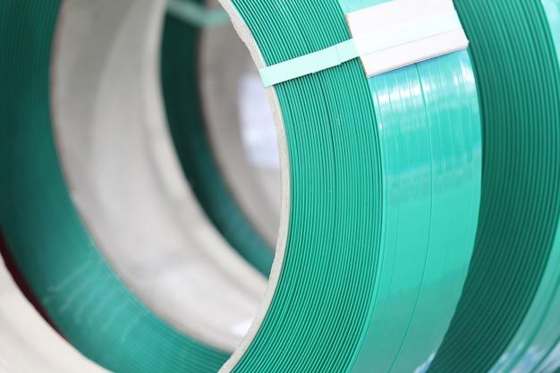 Zielona opaska pp do pakowania i mocowania kartonu