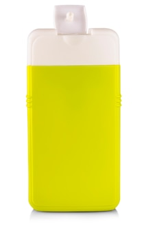 Zielona plastikowa butelka z szamponem
