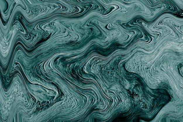 Zielona płynna sztuka marmurkowa farba z teksturą tła
