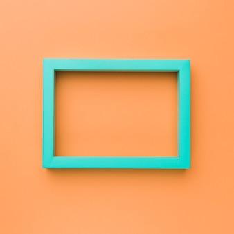 Zielona prostokątna pusta ramka na zdjęcia