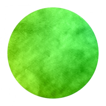 Zielona ręka tekstura tło akwarela okrągłe ramki z plamami
