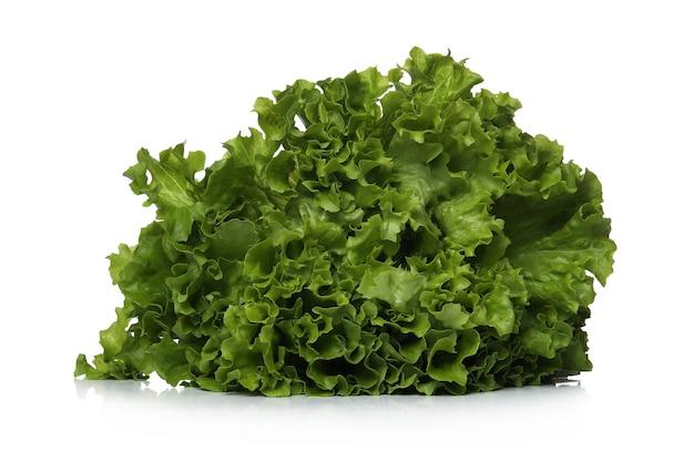 Zielona sałata na białej powierzchni