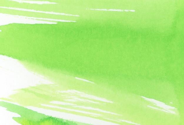 Zielona tekstura pędzla akwarelowego