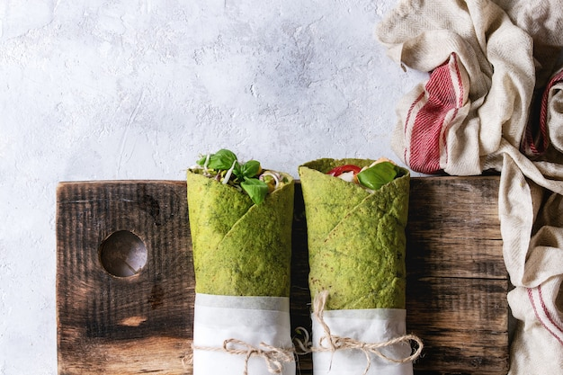 Zielona tortilla ze szpinakiem