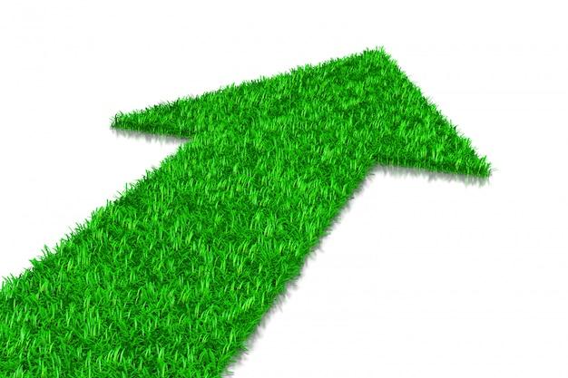 Zielona trawa strzałka