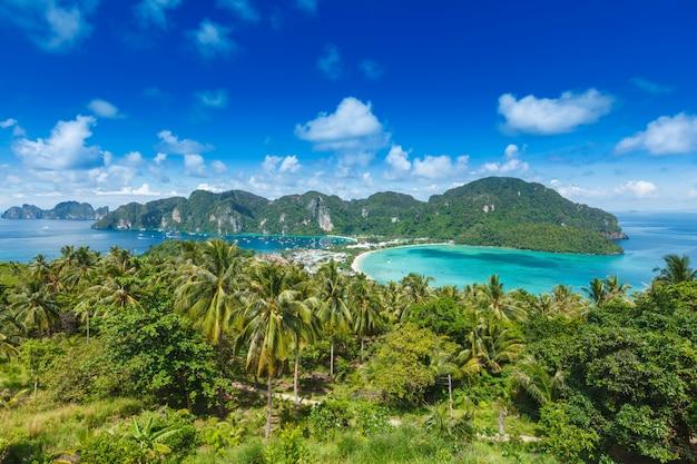 Zielona tropikalna wyspa