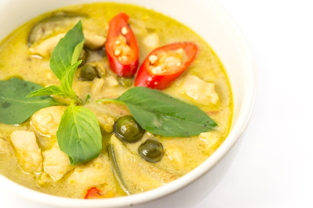 Zielona zupa curry