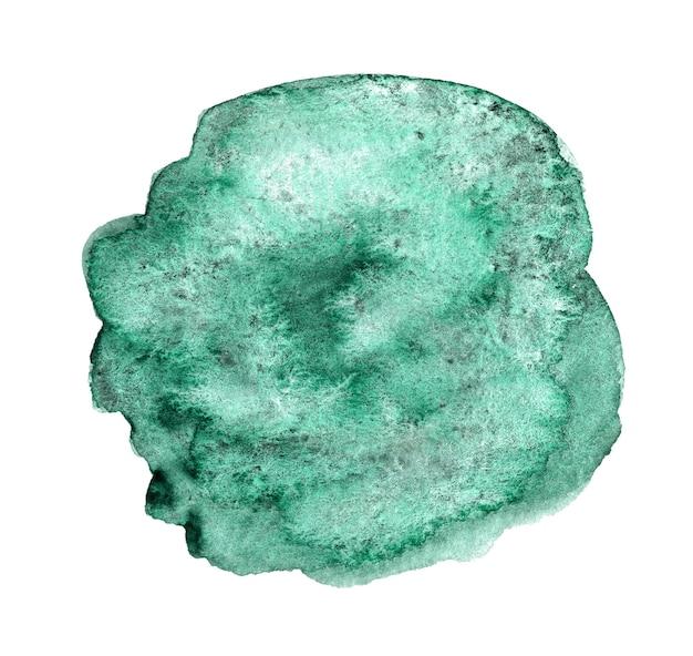 Zielone abstrakcyjne ręcznie rysowane tła akwarela dla tekstu lub logo akwarela clipart