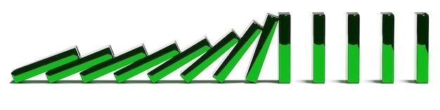 Zielone bloki popychają koncepcję trendów i problemów