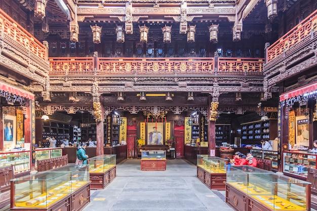 Zielone chińskie orientalne drewniane wakacje