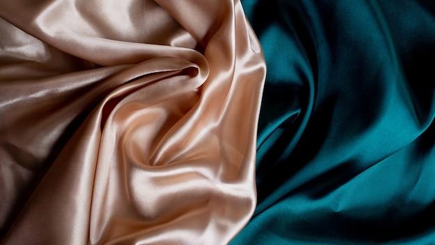 Zielone i brązowe tło tekstury tkaniny