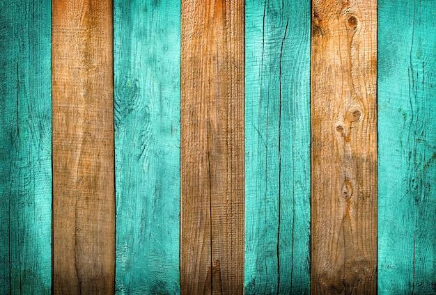 Zielone i naturalne drewno teksturowane tło z delikatnym winietowaniem