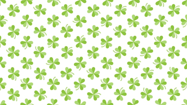 Zielone koniczynki na tle połysku, święto świętego patryka. luksusowy i elegancki styl ilustracji 3d na wakacje