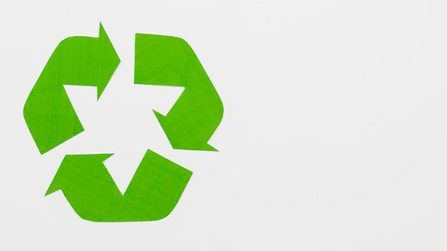 Zielone logo recyklingu ekologicznego