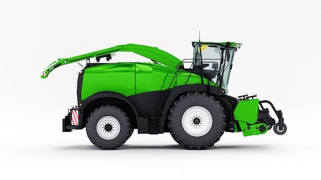 Zielone nowoczesne połączenie na białej powierzchni