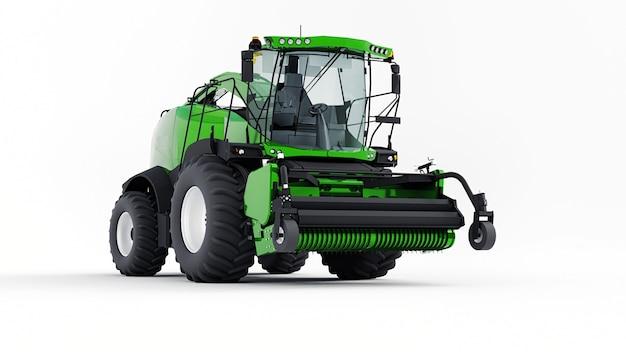 Zielone nowoczesne połączenie na białym tle. renderowanie 3d.