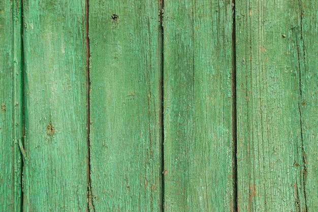 Zielone stare drewniane deski tło