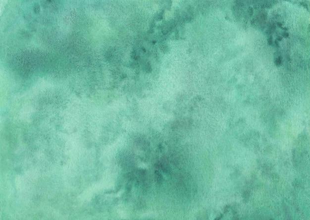 Zielone tło akwarela, ręcznie malowany wzór akwarela