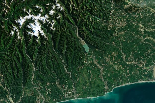 Zielone tło geografii powierzchni ziemi