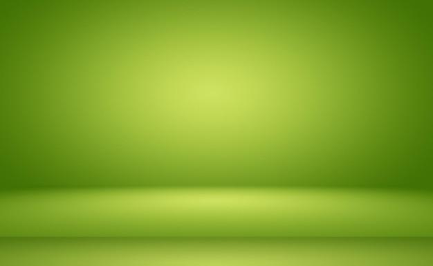 Zielone tło gradientowe abstrakcyjne pusty pokój z miejscem na tekst i obraz