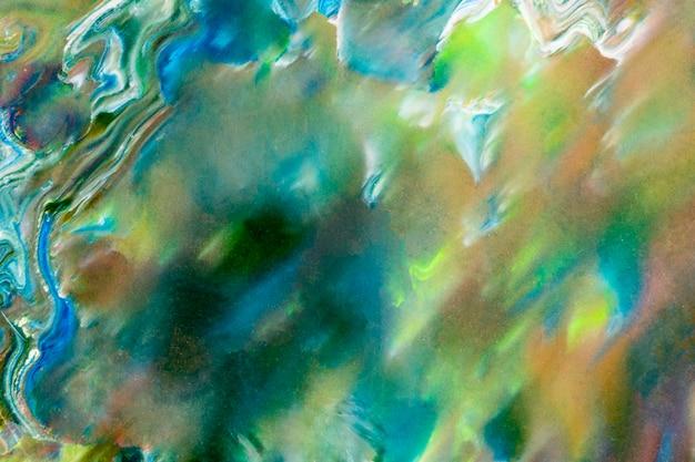 Zielone tło sztuki płynnej diy abstrakcyjna płynna tekstura