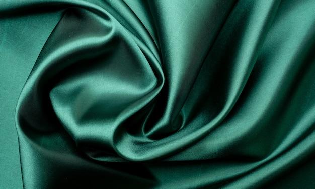Zielone tło tekstura tkaniny, streszczenie, tekstura zbliżenie tkaniny