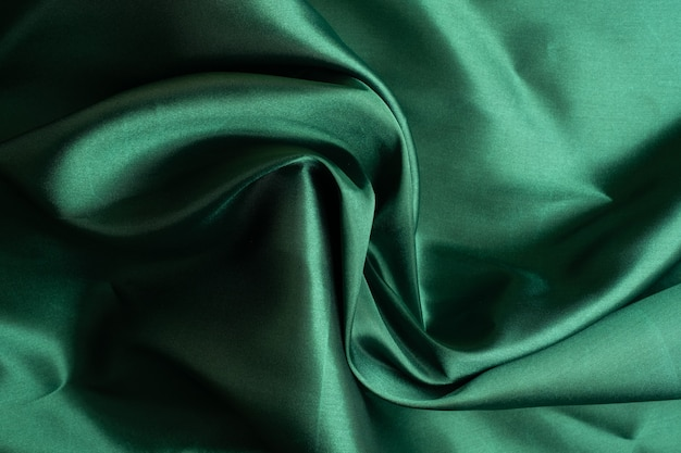 Zielone tło tekstury tkaniny, streszczenie, zbliżenie tekstury tkaniny