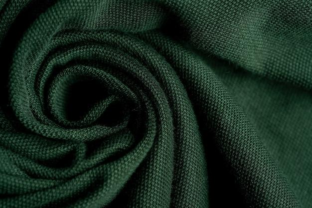 Zielone tło tekstury tkaniny