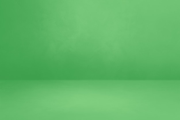 Zielone tło wnętrza betonu. pusta scena szablonu