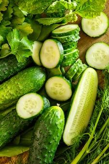 Zielone warzywa, rośliny i zioła