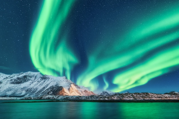 Zielone zorza polarna
