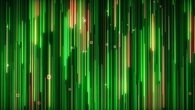 Zielono-żółta neonowa animowana ściana vj