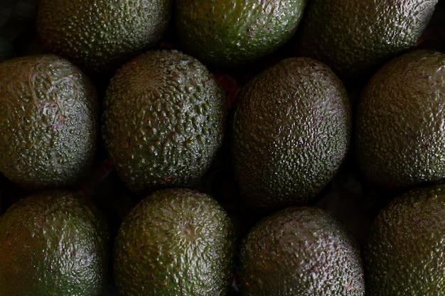 Zielony avocado warzyw stół, odgórny widok, zamyka up