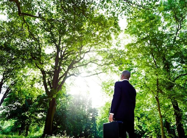 Zielony biznesowy inspiraci natury konserwaci pojęcie