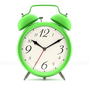 Zielony budzik