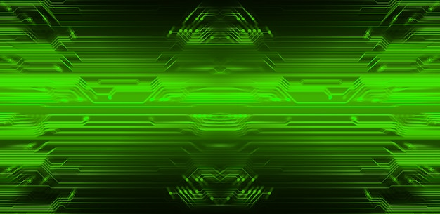 Zielony cyber obwodu technologii przyszłościowy tło