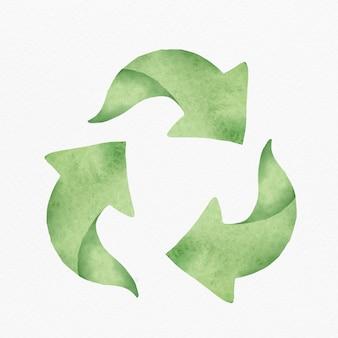 Zielony element projektu symbol recyklingu