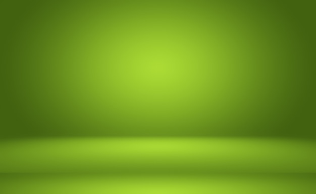 Zielony gradient streszczenie pusty pokój