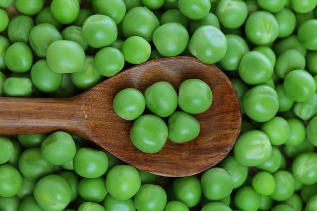 Zielony groszek, tło żywności
