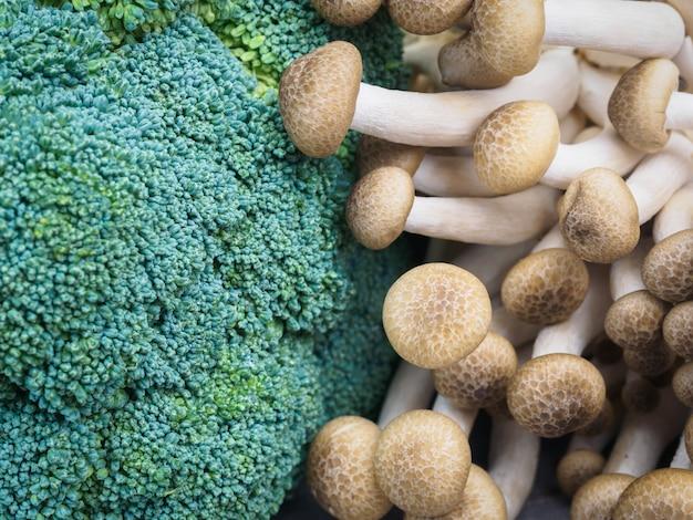Zielony grzyb brokuły głowy