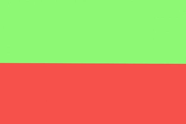 Zielony i czerwony pastelowy kolor papieru na tle tekstury