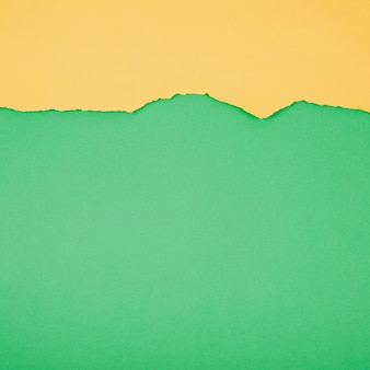 Zielony i żółty papier oddzielone