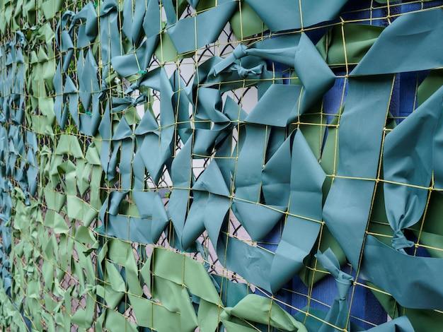Zielony kamuflaż netto zbliżenie