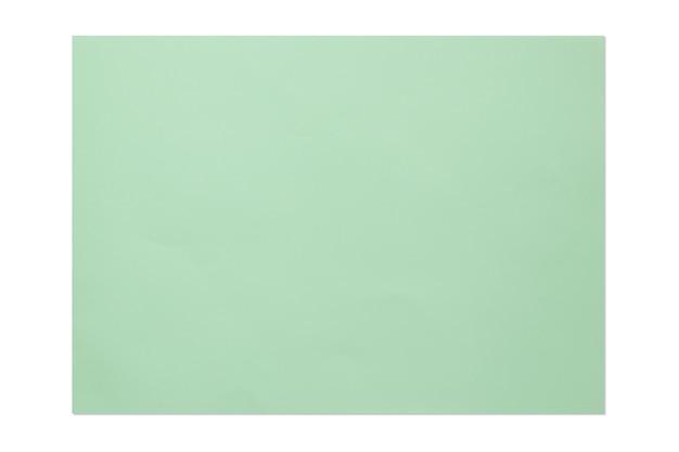 Zielony kolor pusty papier 4a na białym tle.