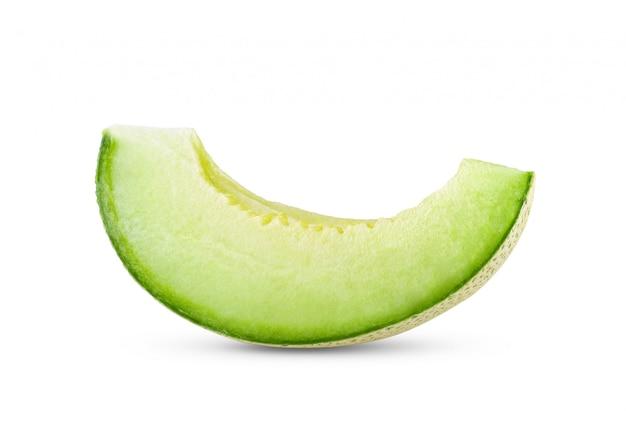 Zielony melon odizolowywający na bielu