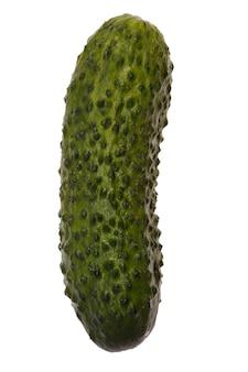 Zielony ogórek na białym tle